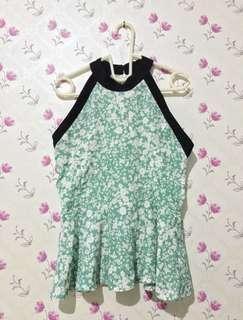 Halter Neck Green Top / Baju Hijau / Baju Halter / Atasan Hijau