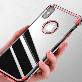 iPhone X/XS/XS Max Anti Drop Electroplated Clear Case
