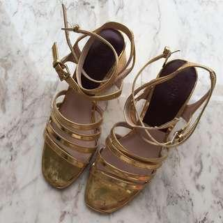 Zara Gold Heels #yukjualan