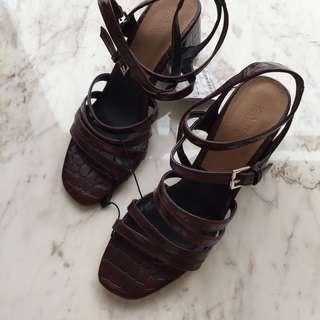 Zara Maroon Heels #yukjualan