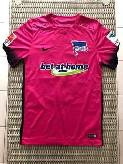 Nike pink Hertha Berlin jersey w 'Haraguchi' nameset for SGD$32 (size S)