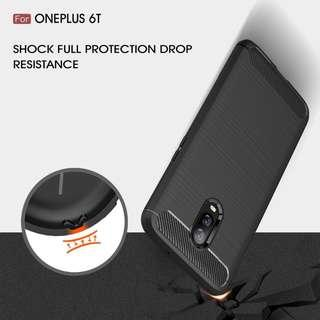 🚚 TPU Shockproof Lined Case for Oneplus 6T (Black)