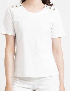 Women's White Top with buttons 👍