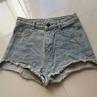 Highwaist Denim Shorts 23-24
