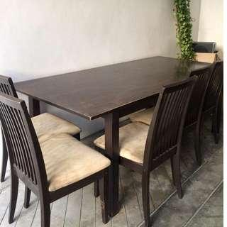 Dining Room Set (1 table, 8 chairs)