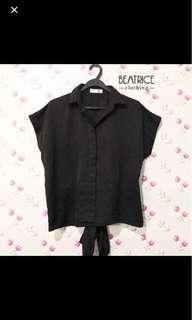 Beatrice Clothing Black Shirt / Kemeja Hitam / Kemeja Kerja / Kemeja Kantor / Baju Formal / Kemeja Formal