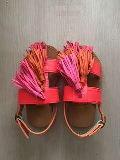Cotton On Kids Pink Orange Tassel Sandals