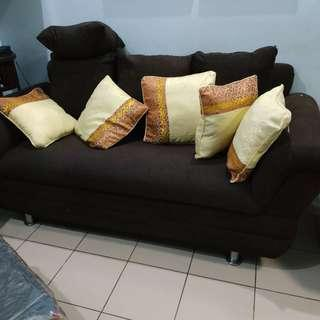 Three-seater couch sofa