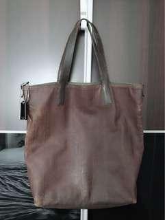 Authentic COACH men leather tote bag
