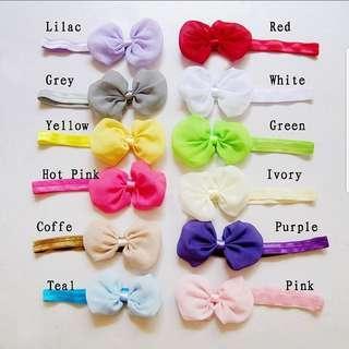 (B38) Girl Princess Headband Hair Band Hair Bow Accessories