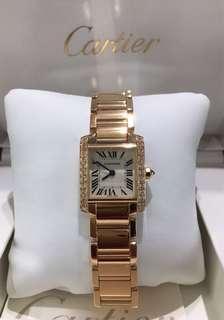 Cartier Lady Tank Francaise in 18K rose gold, quartz