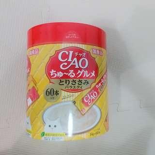 Ciao 60條裝糊仔-(黃色)雞肉雜錦味