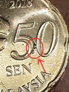 Malaysia 50 cent variety coin
