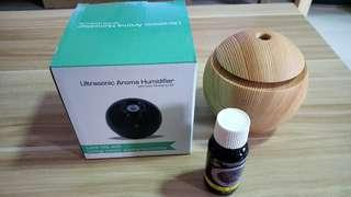 🚚 New Ultrasonic Aroma Humidifier with 30ml Aroma concentrate