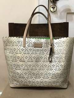 Authentic Coach Eyelet Laser Cut Metro Perforated Tote Bag