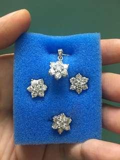 Set with pendant rositas (bigger stones)