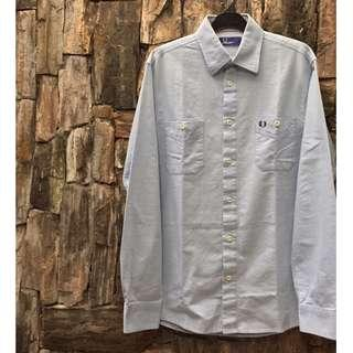 Fred Perry Chambray Long Sleeve 2 Pockets Button Shirt