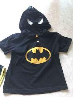 Batman Costume for 2-3 years old