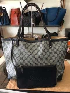 Gucci neverfull with pouch