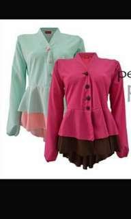🆓 Peplum blazer mint pink