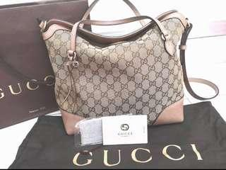Authentic Gucci Bree GG Hobo With Sling