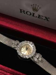 Rolex Vintage Orchid in 16mm 18KWG with diamonds
