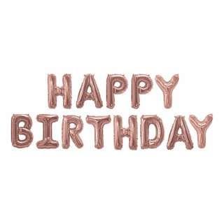 🚚 Rose Gold Birthday Balloons Decoration 16 inch