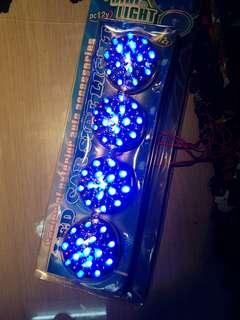 Lorry Led side tail light. Blue x4 12volt