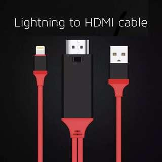 🚚 Lightning to HDMI charge and play cable for iphones