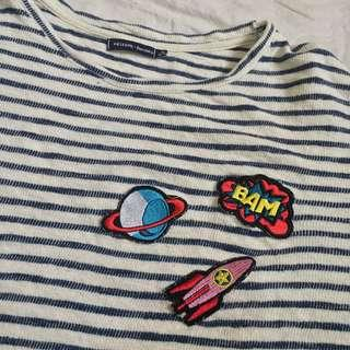 Bershka Crop top with patches