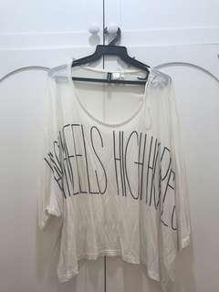 Plus Size H&M White Oversized Top