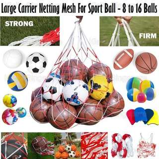 Volleyball Basketball Football Soccer Storage Net Bag Ball Carrier Mesh For One Ball Hold Wide Varieties Office & School Supplies