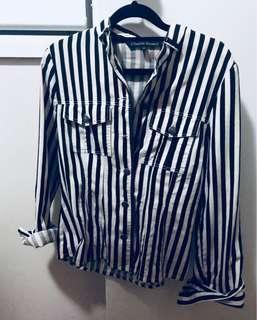 Vintage Striped denim jacket