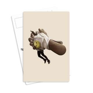 Vintage Postcard - Tipsy Fairy