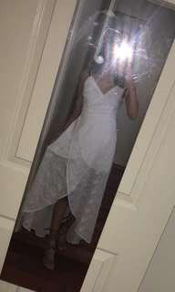 renting white formal dress!