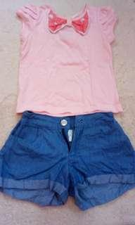 shirt and short for girls