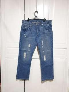 HUMAN Men's Denim Pants