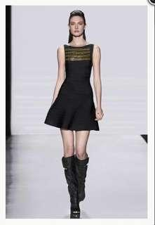 "HERVE LEGER ""HEIDI"" BLACK DRESS"