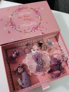 嬰兒 女童 髮夾 禮盒