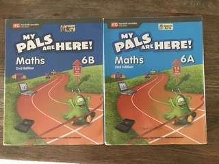My Pals Are Here P6 maths text book 6A and 6Bk