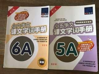 Chinese P6A and P5A vocabulary