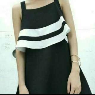 🌼韓國 RABAH 黑白背心裙 One Piece Dress