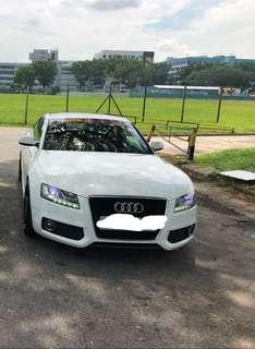 SPORTY AUDI A5 COUPE FOR RENTAL AT YOUR SERVICE