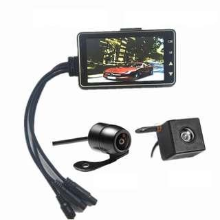 motorcycle camera front back video recorder