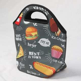 🚚 Neoprene Lunch Tote Thick Insulated Thermal Lunch Bag 27x20x12cm (Food)