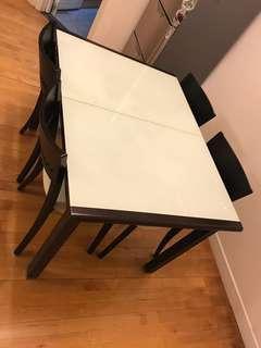 可開合餐枱連餐桌一套/ Dining table set