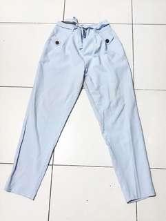 Celana Panjang Wanita Biru / Light Blue Trousers / Celana Kantor Wanita / Celana Kerja Wanita