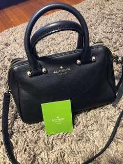Kate Spade leather black handbag (authentic)