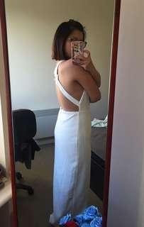 White dress cross backless