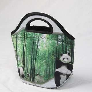 🚚 Neoprene Lunch Tote Thick Insulated Thermal Lunch Bag 27x20x12cm (Panda)
